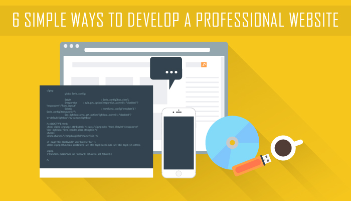 6 Simple Ways To Develop A Professional Website