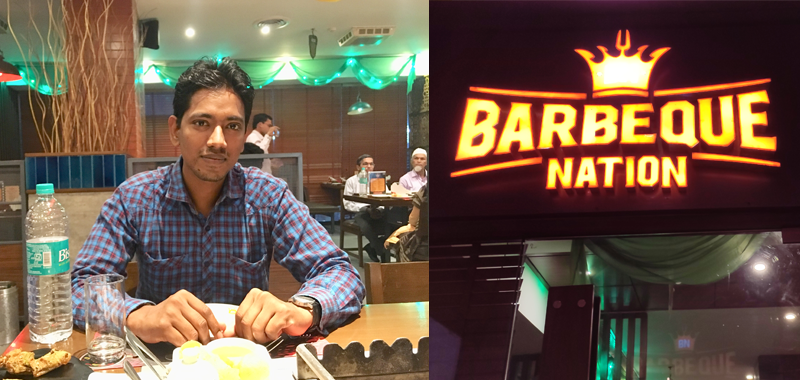 Employee of the month experience by Anil Prajapati at Barbeque Nation