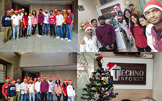 Christmas Celebration 2019 – Fun Games, Award Ceremony, Pizza Party at Techno Infonet