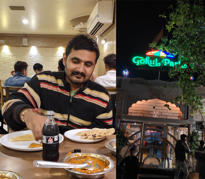 Employee of the month November 2019 experience by Hirak Sheth at Gokul Park Restaurant, Surendranagar