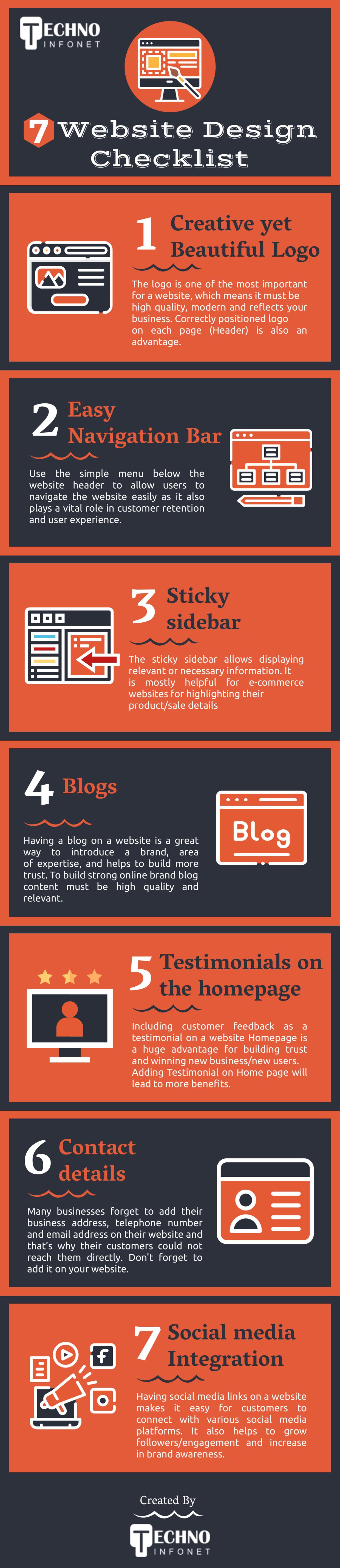 7 website design checklist