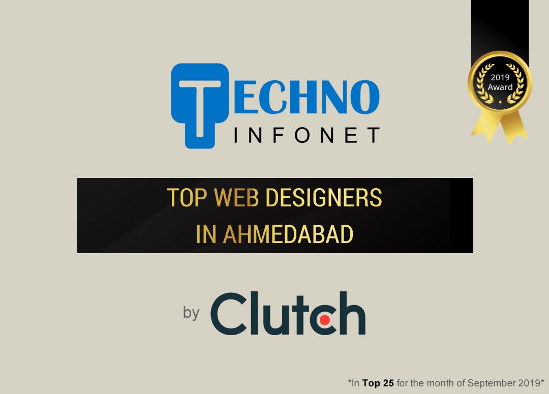 Techno Infonet celebrates top spot as a leading Web Designer by Clutch