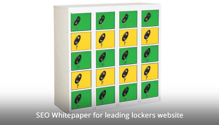 SEO Whitepaper for leading lockers website