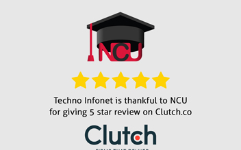 Techno Infonet is thankful to National Capital University for giving 5 star review on clutch.co