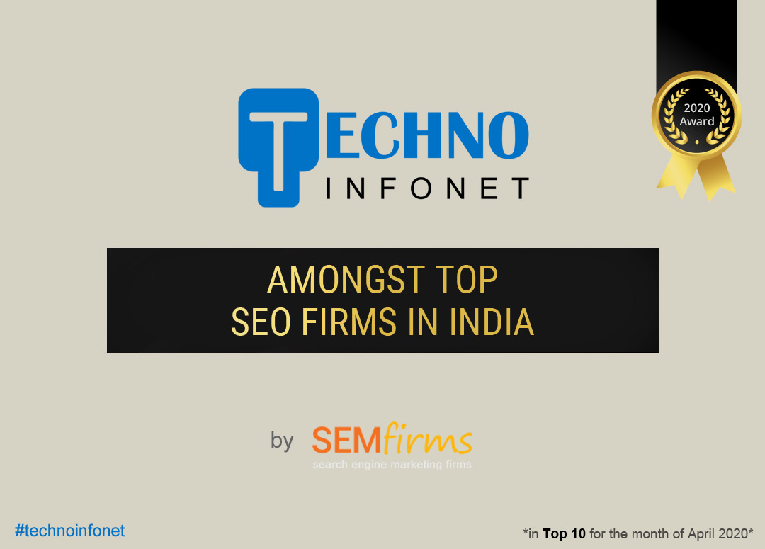 Techno Infonet named amongst top SEO firms in India by semfirms.com