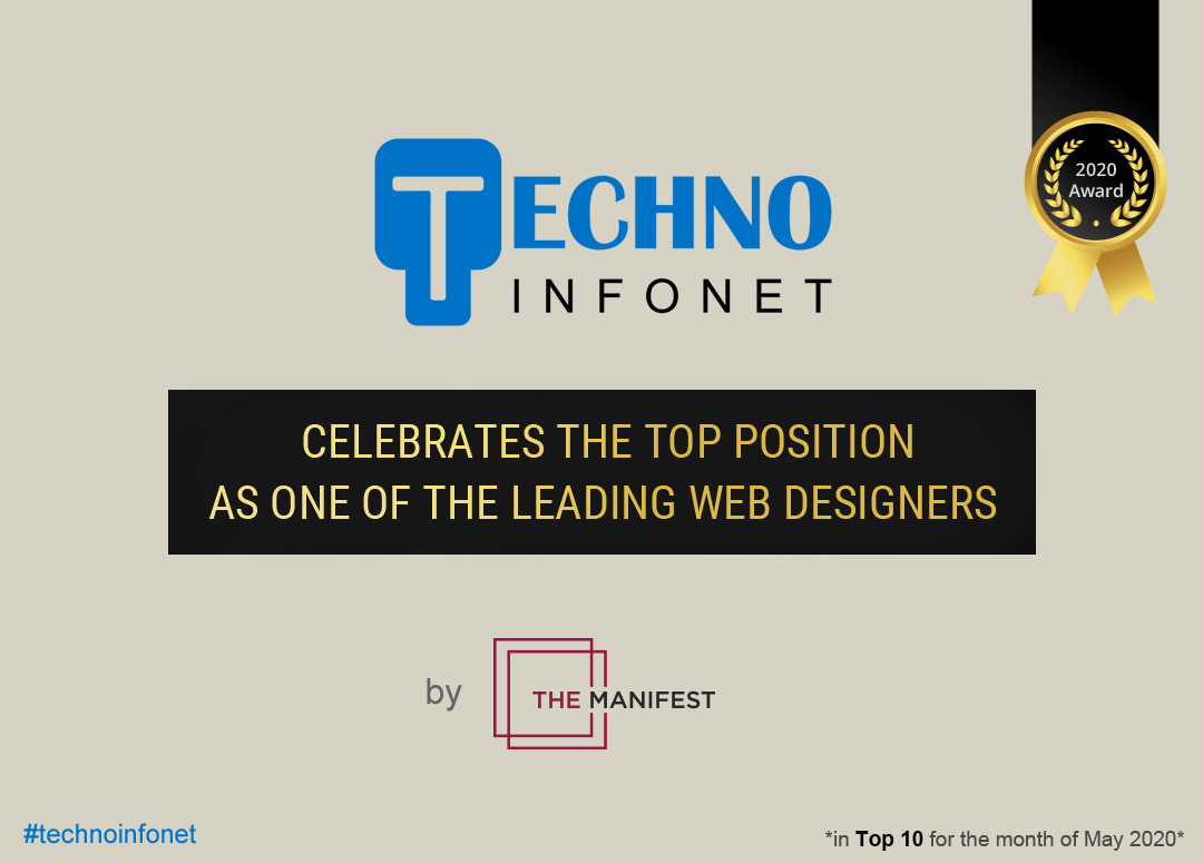 Techno Infonet celebrates the top position as one of the leading Web Designers by The Manifest